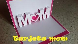 Kirigami - Pop Up. Tarjeta para Regalar el día de la Madre o San Valentin. Mom Mama