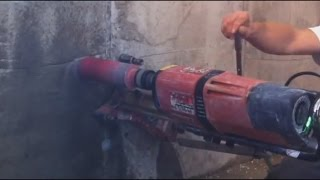 CORE DRILLING IN  REINFORCED CONCRETE incl. Drill stand fix HILTI DD 350 Kernbohrung Beton