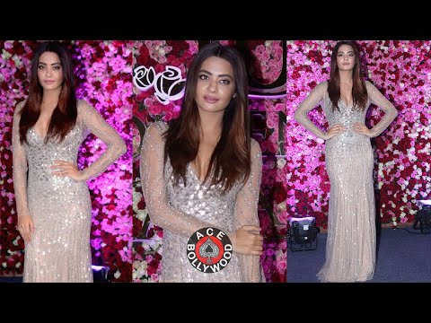 Hot Surveen Chawla at the Red Carpet Of Lux Golden Rose Awards 2017