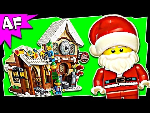 Lego City SANTA's WORKSHOP 10245 Winter Expert Creator Stop Motion Build Review