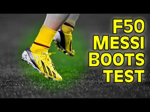 Testing Messi Boots: adidas F50 miCoach 2 Test   Free Kick Review   freekickerz