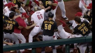 Cincinnati Reds vs Pittsburgh Pirates Full Uncut Fight! BENCH CLEARING BRAWL!