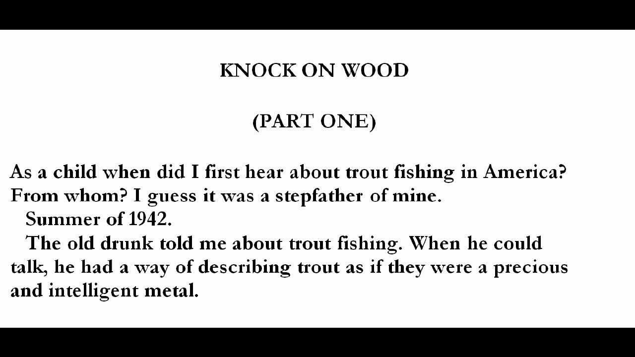 Trout Fishing in America Richard Brautigan Trout Fishing in America