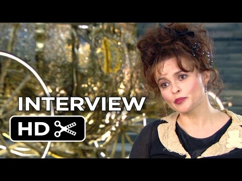 Cinderella Interview - Helena Bonham Carter (2015) - Lily James, Hayley Atwell Movie HD