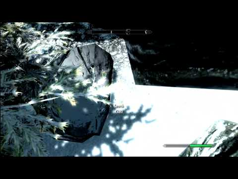 Dawnstar infinite gold secret chest tutorial Skyrim HD