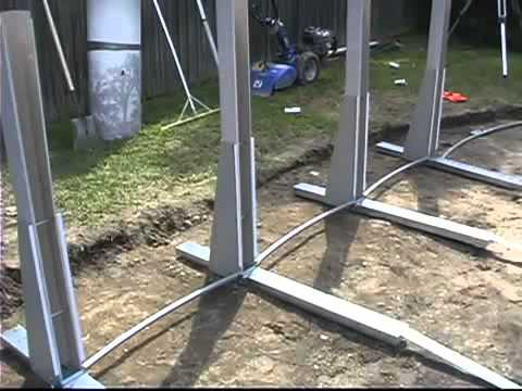 Wilbar oval above ground pool installation part 1 of 2 by for Above ground pool installation