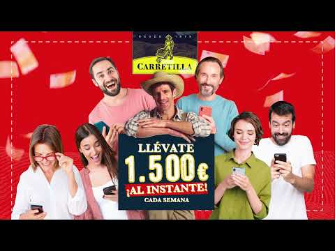 Carretilla sortea 1.500 euros semanales al instante