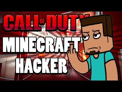HACKER in Call of Duty with a MINECRAFT Skin