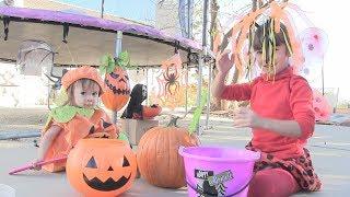 HALLOWEEN ! Bé Peanut Bé Mango Khắc Bí Ngô Ma Quái Để Đón Halloween! kênh trẻ em