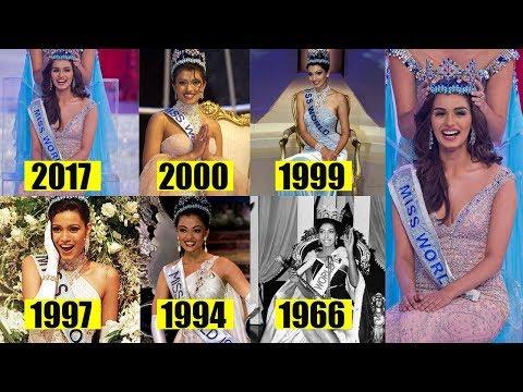 6 Beautiful ladies from India Who won Miss world crown 2017 Priyanka Chopra to Manushi Chillar thumbnail