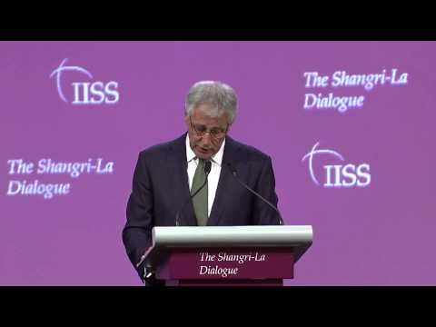 Chuck Hagel, First Plenary Session
