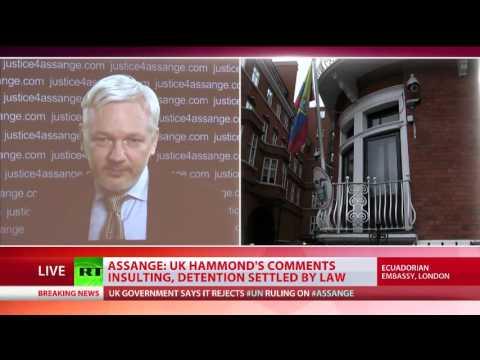Julian Assange holds media conference