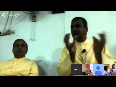 Apt Bharatanandji and Jaymeshanandji in Nigeria on 26-July-2014