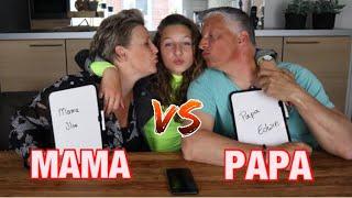 WIE KENT MIJ BETER CHALLENGE MET PAPA EN MAMA || KIYA
