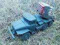 Самый крутой фейерверк под установку ГРАД грузовик Урал из пластилина