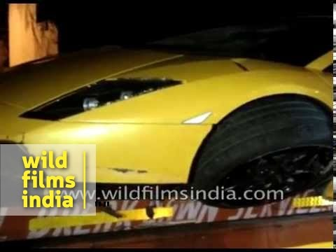Lamborghini Murcielago found abandoned after crash in Delhi