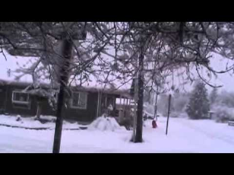 Seattle Washington Snow Storm 1-15-2012  Part 1
