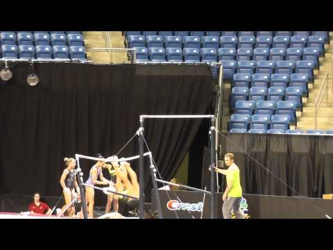 (WOGA) Nastia Liukin DOUBLE FRONT 1/2 NAILED!