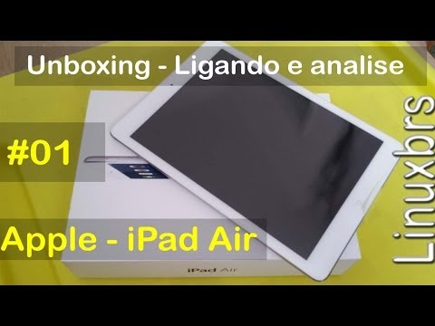 iPad Air 16 gb Branco iOS 7.0.3 - UNBOXING - Com Linuxbrs - PT-BR - Brasil