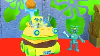 Imaginext Spongebob Squarepants Patty Wagon with Patrick and Plankton Just4fun290