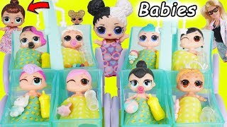 LOL Surprise Dolls + Lil Sisters at Barbie Fake Toy Hospital for Babies