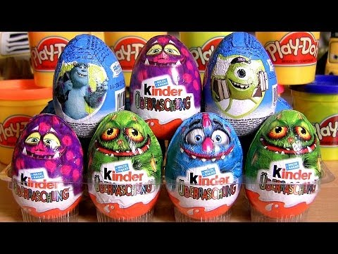 12 Kinder Monsters University Surprise Eggs Zaini Toys Disney Pixar Monsters Inc. 2 Huevos