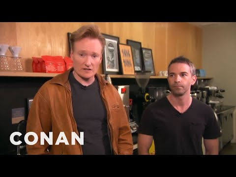 Conan Takes Jordan Schlansky Coffee Tasting - CONAN on TBS