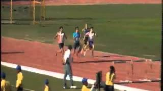 Atletismo 400 Metros con Vallas Contra Reloj Final Varonil 1ª Carrera Universiada Nacional 2013