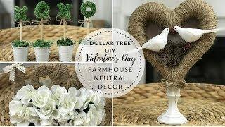 DOLLAR TREE VALENTINES DIY FARMHOUSE NEUTRAL DECOR