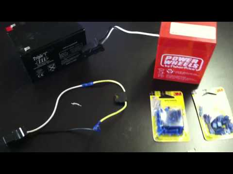 How To Make Power Wheels Faster - Modify 6 Volts to 12 Volts