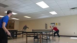Eric vs. Ben - Table Tennis - ATTACK OF THE SHUFFLEBOARD! 2/8/19