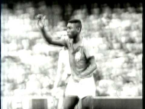 First goal from Pelé in Wold Cups, in 1958
