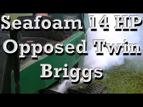 Seafoam 14 HP Opposed Twin Briggs and Stratton