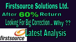 Firstsource Solutions Ltd.|| After 60% Return || Looking for 30% Correction || Trade Talk