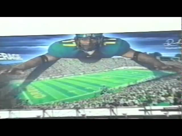 Feature on Oregon Ducks 2001 billboards during Oregon-AZ game 10-06-01