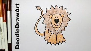 Drawing: How To Draw Cartoon Lion Step by Step - Easy