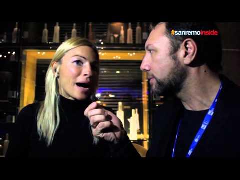 Lory Del Santo Cristina Del Basso Stefano De Martino e Franco Trentalance al festival di Sanremo 201