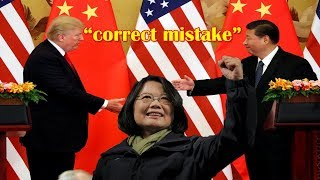 China urges US to 'correct mistake' on Taiwan