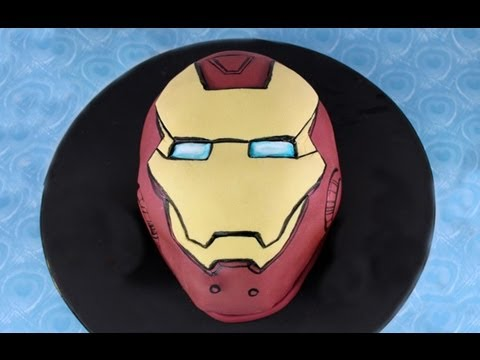 Iron Man Mask Cake Tutorial