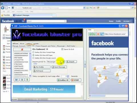 How to auto add friends and auto wall post on Facebook