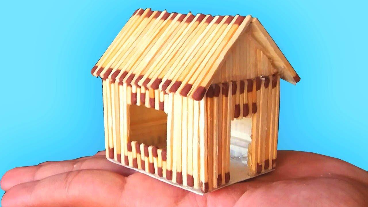 Как своими руками сделать домик из спичек 194