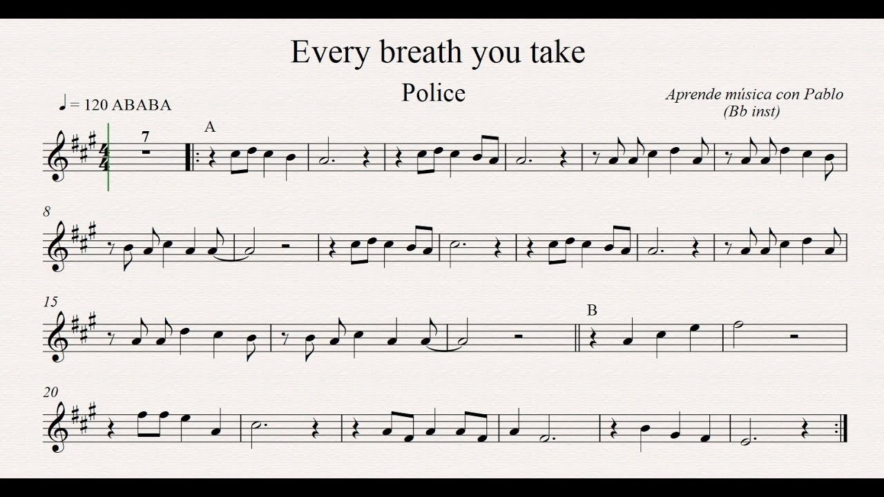 Every breath you take chords