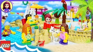 Fun at the Beach Lego City with Lego Friends Seaside Build Review Silly Play Kids Toys