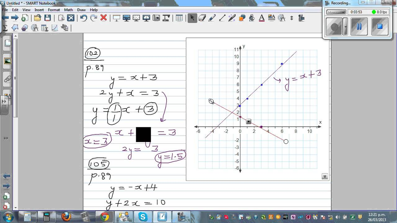 solving simultaneous equations using graphical method