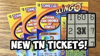 New Tickets! 3X SLINGO Tennessee Lottery Scratch Off Tickets