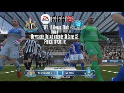 FIFA 13 Career Mode Coach - Newcastle United S1 G28 vs Everton