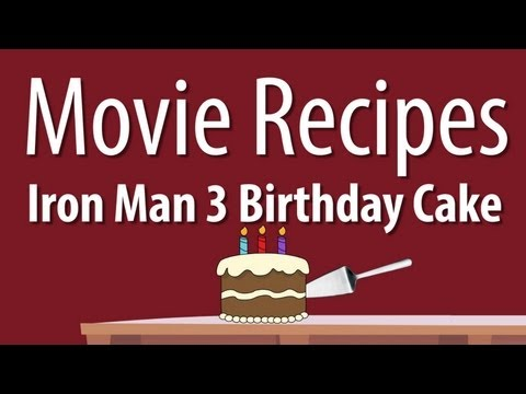 Iron Man 3 Birthday Cake - Movie Recipes