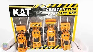Orange Colored Mini Construction Vehicles Toys Models For Kids Playing!!