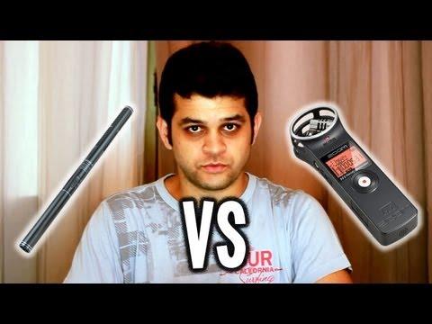Comparação de captura de áudio - Microfone Yoga Shotgun  vs Zoom H1