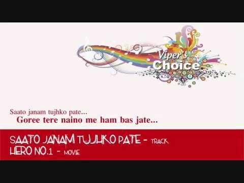Saato Janam Tujhko Pate - Hero No.1 video